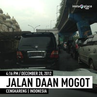 Photo taken at Flyover Daan Mogot by Thomas V. on 12/28/2012