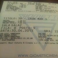 Photo taken at Cinema Giometti Multisala by Guido C. on 4/30/2013