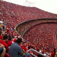Photo taken at Arrowhead Stadium by Lisa H. on 9/30/2012
