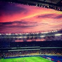 Снимок сделан в НСК «Олимпийский» пользователем Сергей Н. 7/7/2013