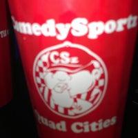 Photo taken at ComedySportz QC by Yvonne L. on 3/2/2013