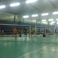 Photo taken at New Vision Badminton Academy by Stella I. on 7/13/2013