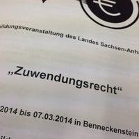 Photo taken at Aus- und Fortbildungsinistitut des Landes Sachsen-Anhalt Benneckenstein by Oliver L. on 3/6/2014