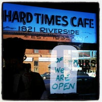 Photo taken at Hard Times Café by Aaron N. on 12/25/2012