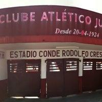 Photo taken at Estádio Conde Rodolfo Crespi by Marcelo B. on 4/20/2013