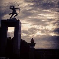 Photo taken at Patung Panahan Senayan by Michael T. on 4/6/2013