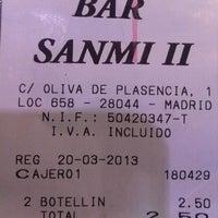 Photo taken at Bar Sanmi II by Jorge J. on 3/19/2013