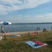 Photo taken at Bernadin Strand - Beach by Grega R. on 7/7/2014