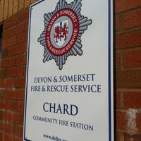 Photo taken at Chard Fire Station by Daniel W. on 4/29/2013
