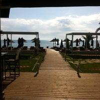 Photo taken at Mango Beach Bar by Alexandros N. on 5/2/2014