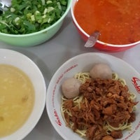 Photo taken at Mie Ayam Baso Bang Adi Kutoarjo by Veny N. on 12/28/2013