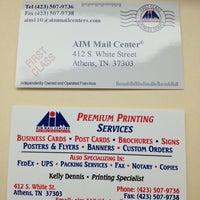 Photo taken at AIM Mail Center by Jennifer G. on 1/15/2013