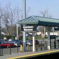 Photo taken at NJT - Aberdeen-Matawan Station (NJCL) by Sergey B. on 4/15/2011