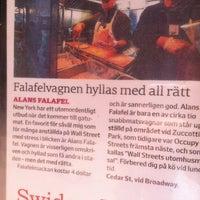 Photo taken at Alan's Falafel Cart by John W. on 6/7/2012