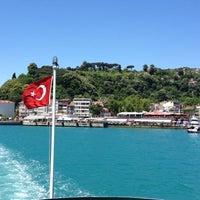 Photo taken at Sarıyer Sahili by Aziz A. on 6/9/2012