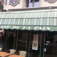 Photo taken at Le Cafe De La Paix by Chartres T. on 11/19/2012