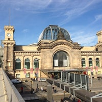 Photo taken at Dresden Hauptbahnhof by Steve J. on 10/17/2012