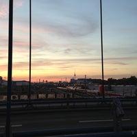 Photo taken at Modersohnbrücke by Steve J. on 10/1/2012