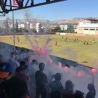 Photo taken at Mut İlçe Stadyumu by Ali D. on 9/23/2018