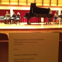 Photo taken at COFAC Recital Hall by Seth F. on 4/30/2013