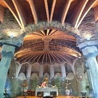 Photo taken at Cripta Gaudí by Marta D. on 7/13/2013