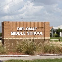 Photo taken at Diplomat Middle School by Linda B. on 11/19/2013