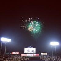 Photo taken at Meiji Jingu Stadium by Masaki N. on 7/25/2013