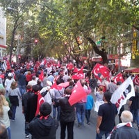 Photo taken at Necatibey Caddesi by Yusuf A. on 10/29/2012
