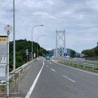 Photo taken at 因島大橋バスストップ by Yuki O. on 9/23/2018