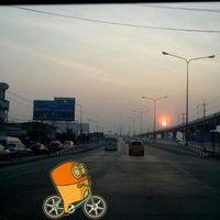 Photo taken at [Construction Site] MRT ไทรม้า (Sai Ma) PP07 by Analayo K. on 2/26/2013