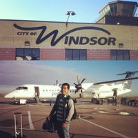 Photo taken at Windsor International Airport (YQG) by Jon-Jon G. on 11/8/2013