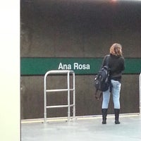 Photo taken at Ana Rosa Station (Metrô) by Erick Leandro L. on 3/30/2013