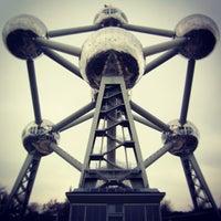 Photo taken at Atomium by Fabio S. on 2/23/2013
