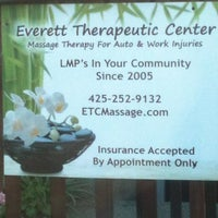 Photo taken at Everett Therapeutic Massage Center by Jeanette S. on 4/9/2013