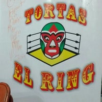 Photo taken at Tortas El Ring by Anna on 7/3/2016