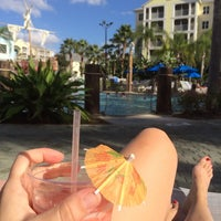 Photo taken at Poolside @ Marriott Harbour Lake by Serena B. on 12/22/2013