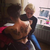 Photo taken at Tatoo salon Gorohva 34 by Ksenia K. on 3/28/2014