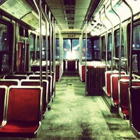 Photo taken at TTC Streetcar #501 Queen by Jason C. on 2/21/2014