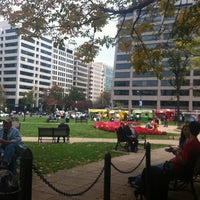 Photo taken at Farragut Square by Ty K. on 10/25/2012
