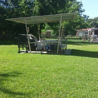 Photo taken at Waller's BBQ Area by Brian W. on 7/2/2013