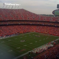 Photo taken at Arrowhead Stadium by Emily C. on 9/30/2012