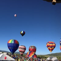 Photo taken at Steamboat Springs Hot Air Balloon Rodeo by Kevin K. on 7/12/2015
