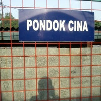 Photo taken at Stasiun Pondok Cina by Dhydyan S. on 12/2/2012