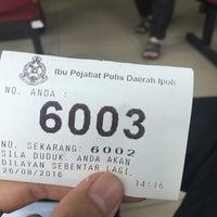 Photo taken at Ibu Pejabat Polis Kontinjen Perak by Amirul A. on 8/26/2016
