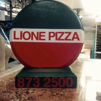 Photo taken at Lione's Pizza by Lance M. on 12/27/2015