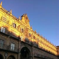 Photo taken at Plaza Mayor by Ecclesius de Vatum on 6/19/2013