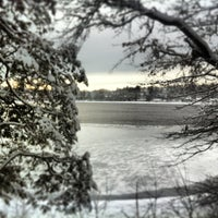Photo taken at Chestnut Hill Reservoir by Raghav R. on 12/30/2012