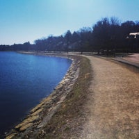 Photo taken at Chestnut Hill Reservoir by Raghav R. on 4/6/2013