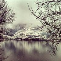 Photo taken at Lago di Caldonazzo by Fabio S. on 1/14/2013
