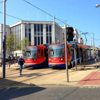 Photo taken at Cathedral Tram Stop by Gaz on 5/7/2013